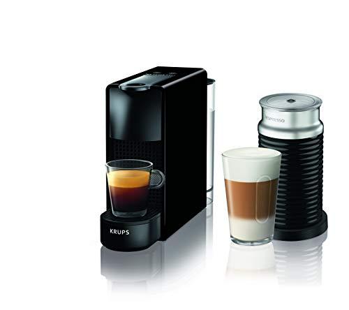 Krups Nespresso Essenza Mini XN1118 Kaffeekapselmaschine (1310 Watt, 0,7 Liter, 19 bar, inklusive Aeroccino Milchaufschäumer) schwarz