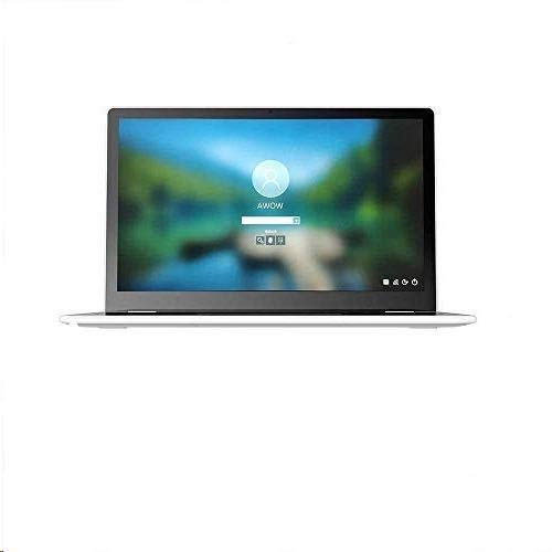 AWOW Touchscreen Laptop (13,3 Zoll 1920 x 1080 FHD Touchscreen-Display) Notebook, Windows 10 Pro, 8GB DDR4, 512G SSD,IPX5 Wasserdicht, Silber(American Keyboard)