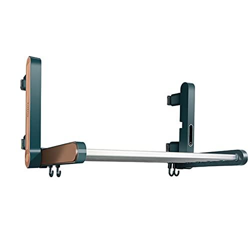 Calentador De Toallas Eléctrico Inteligente, Toallero Calefactado con Pantalla Táctil, Secador Toallas Enchufable Montado En La Pared, Secatoallas Plegable De Rotación De 90 ° De Aluminio Espacial