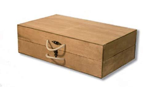 Maleta-Caja para Guardar jamoneros Plegables y Desmontables. Maletín de Madera con Asas para...