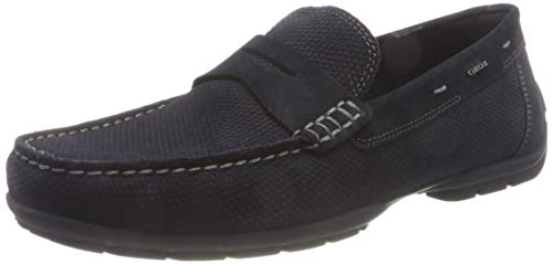 Geox U Moner W 2FIT D, Mocassino Uomo, Blu Navy, 40 EU