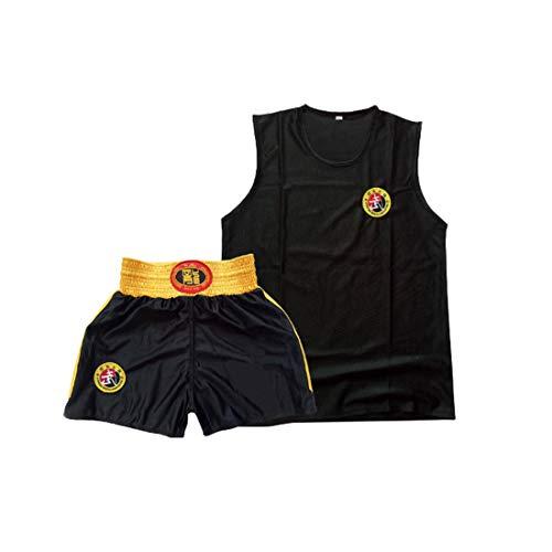 Inlefen Niños Sanda Clothing Boys & Girls Adult Set de Boxeo Pantalones Cortos de Boxeo Muay Thai Clothing Artes Marciales Entrenamiento Wear Sportswear