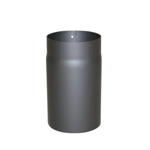 Kamino Flam Ofenrohr gussgrau, Rauchrohr aus Stahl für sichere Ableitung von Verbrennungsgasen, hitzebeständige Senotherm® Beschichtung, geprüft nach Norm EN 1856-2, Maße: L 250 x Ø 150 mm