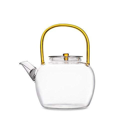 Klarglas Teekanne Wasserkocher Teekanne Blume Teekanne Kung Fu Tee Borosilikat Glas Teekannen Hitzebeständig -700 Ml B.