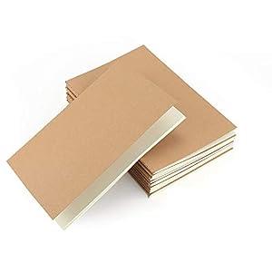 VEESUN Pack de 10 cuadernos, A5 Tapa de Kraft Blanda 5 líneas y 5 Blanco 60 páginas, Libretas Grapadas Cuaderno de Notas para Despacho Diario Escritura de la Escuela Chicos Chicas y Maestros