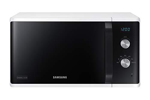 Samsung MW3500 MS23K3614AW/EG Mikrowelle/ 800 W/ 23 L Garraum/ 48, 9 cm breite/Kratzfester Keramik-Emaille-Innenraum/ 6 Leistungsstufen/Weiß