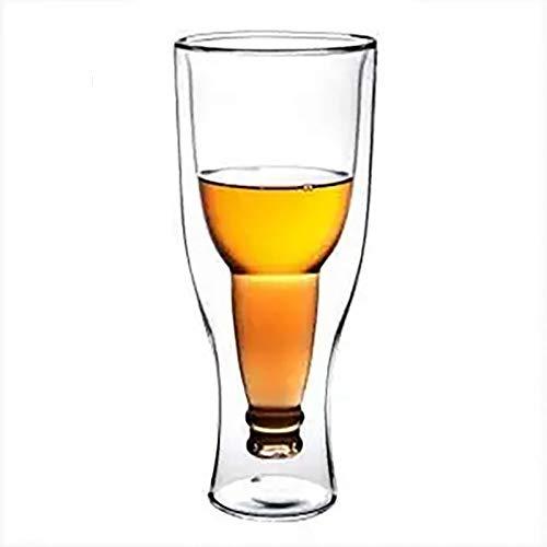 Jarra De Cerveza Doble, Temperatura Del Compartimento, Forma De Botellas De Cerveza, Navidad-350Ml,2Tazas