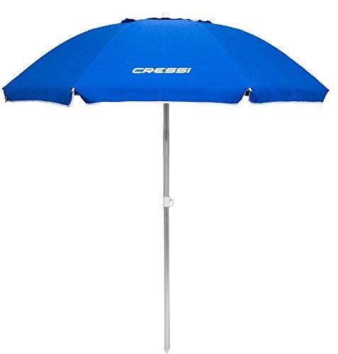 Cressi Zinc Alloy Tilt & Air Vent Sombrilla Parasol Playa/Terraza/Jardín/Tiempo Libre, Azul, Talla Única