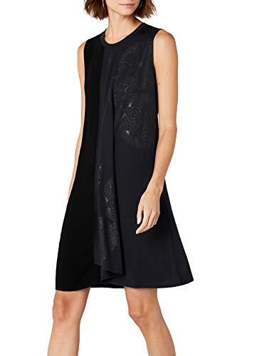 Desigual Damen Kleid Vest_karla, Schwarz (Negro 2000), Gr. X-Small (Herstellergröße: Small)
