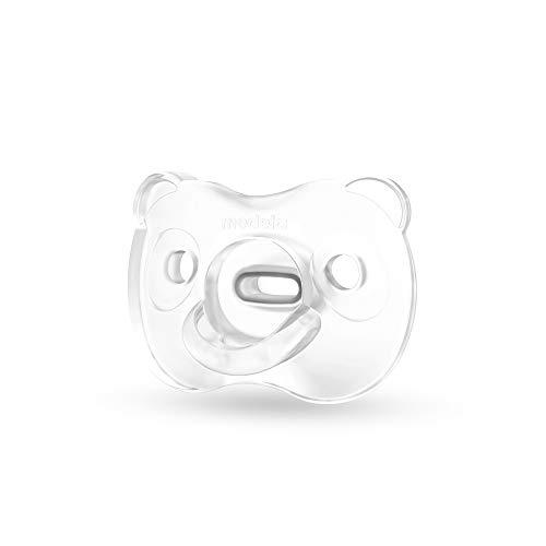 Medela Baby Soft Silicone Schnuller, 0-6 Monate, UNO, transparent, 1 Stück