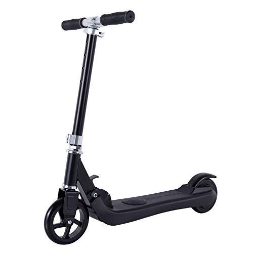 Scooter eléctrico para niños de 6 a 12 años, Kick Start Gravity Sensor Kid Scooter motorizado Scooter para niñas y niños pequeños de altura ajustable plegable ligero ruedas de 5.75 pulgadas (negro)