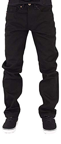 Rocawear Mens Boys Black Double R Star Relaxed Fit Jeans is Money G Hip Hop Time (W36 - L34, Black)