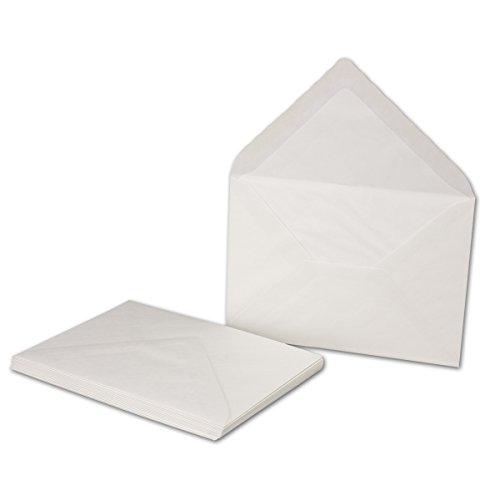 75 x enveloppen wit - DIN C6 - met gehamerd oppervlak, gevoerd met zijdepapier - 80 g/m2-162 x 114 mm - natte kleeflaag