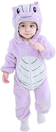 RSTJVB Traje de bebé, Traje de rastreo de Animales para niños, niñas, brotes de Invierno,Purple Rhino,70cm