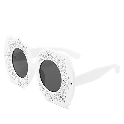 ZZZXX Gafas De Sol Para BebesMontura Grande Llena De Gafas De Sol De Diamantes Polarizadas Uv400 Protección Para Conducir Pesca Al Aire Libre Marco De Acetato,Con Caja De Regalo Y Paño Para Vasos