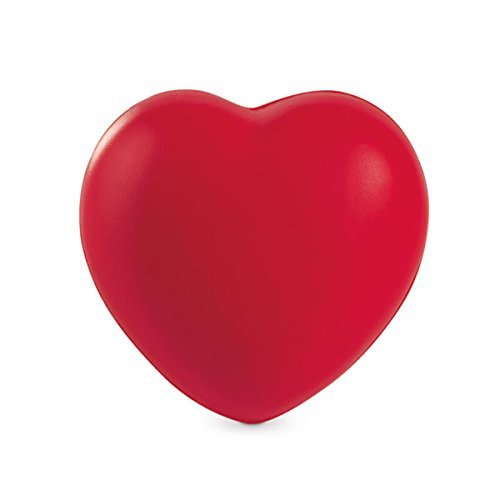 eBuyGB Anti Stress Reliever Ball Squeezy Toy Hand Exercise - Great for Relieving Stress and Tension (Red Heart)