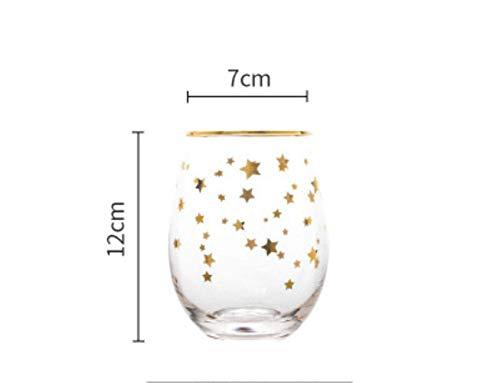 Kristallen glazen Golden Edge Letter Egg Cup Whisky Wine Glass Cocktail Brandy Big Belly Mok van het Bier, Rood, 550ml lili (Color : Yellow, Size : 550ml)