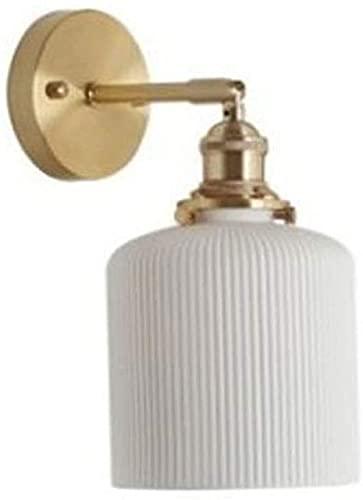 BESTPRVA Lámpara de Pared de cerámica de Estilo japonés Moderno Minimalista Minimalista Estilo escandinavo Salón de Estar Pasillo de Entrada Creativo Cama de la Cama de latón