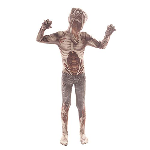 FUPOA Disfraz de Calavera de Terror Disfraz de Payaso Monstruo Disfraz de Halloween para niños Disfraz de Esqueleto Aterrador Disfraz de Demonio Espeluznante, 02,7T