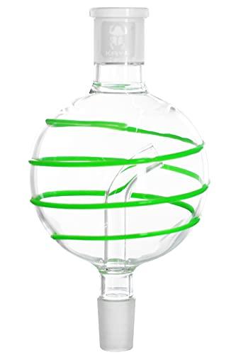 Kaya Shisha Molassefänger Glas Snork, Kugel, Leuchtet im Dunkeln, Stabiler 18.8 Schliff - Wasserpfeifen-Zubehör