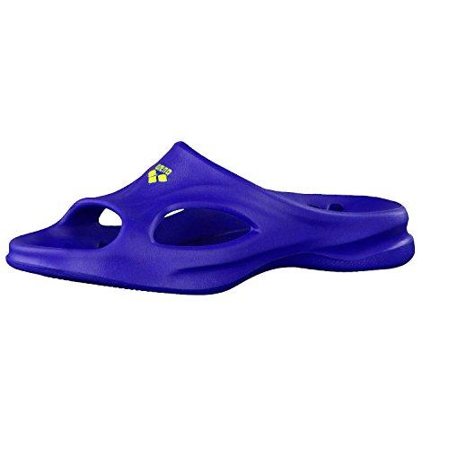 ARENA Unisex-Erwachsene Hydrosoft Jr Hoo Dusch- & Badeschuhe, Blau (Blue/Yellow 075), 38 EU