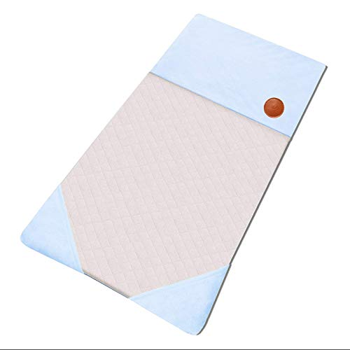 GOSMOO MKT Small Animals Guinea Pig Reusable Pee Pad Bed House Winter Warm Hedgehog Rabbit Chinchilla Bedding Waterproof Puppy Training Pad Fleece Cage Liners with 3 Pocket Hideout