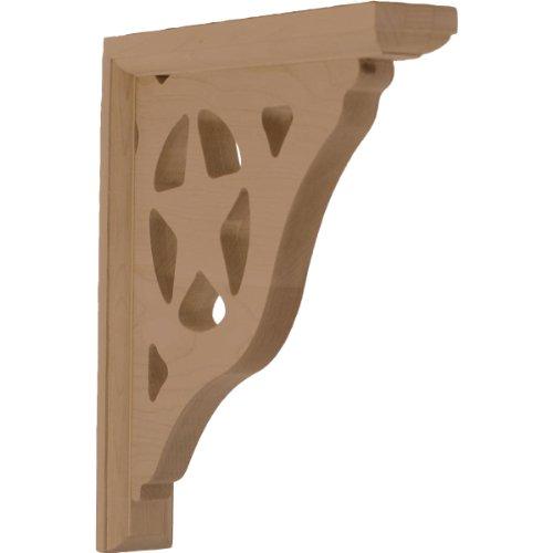 Ekena Millwork BKT01X06X08BURW 1 1/2-Inch W by 6-Inch D by 8 1/2-Inch H Austin Bracket, Rubberwood
