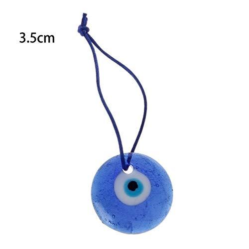 IENPAJNEPQN Protección for los Ojos Grandes Malvado Azul Mystic Cristal Luck Charm 1