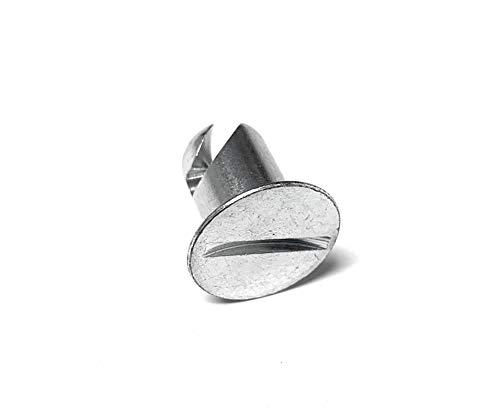 """7/16"""" Steel Dzus Button Flush Slotted Standard Head Quarter Turn Fasteners .500"""