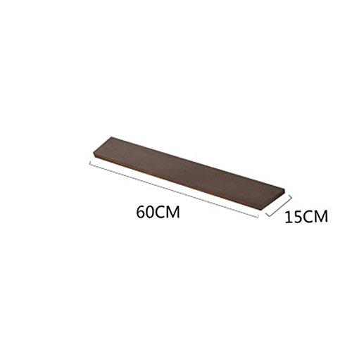 MEIDUO Étagères Racks étagères étagère flottante en bois 120cm/90cm/60cm/30cm très durable (Couleur : Noyer, taille : 60 cm)