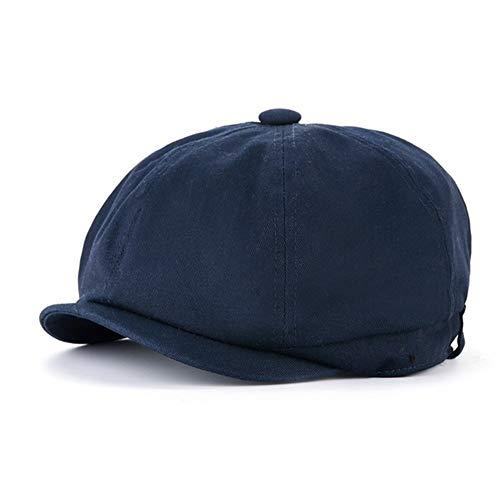 Británica de lana hombres del estilo ocasional de la manera octagonal del sombrero del sombrero del invierno Campo de conducción señoras del otoño del algodón de mezclilla plana del vendedor de periód