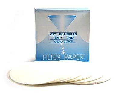 Eisco Labs Premium Qualitative Filter Paper, 12.5cm Dia, Medium Speed (85 GSM), 10? (10 Micron) Pore Size - Pack of 100 from EISCO