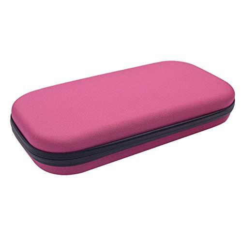 GeKLok Estetoscopio Estuche de transporte organizador médico estetoscopio duro caja de almacenamiento protectora EVA bolsa para accesorios médicos y enfermeras (rosa)
