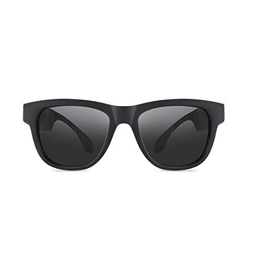 ZLDQBH ANLW Bone Conduction Brille, polarisierte Sonnenbrille für Sportkopfhörer, Stereo Music Wireless Bluetooth wasserdichte Kopfhörer Kompatibel mit Android/Windows/Smart Brille (Color : B)