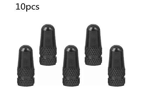 Fahrrad Ventilkappe, Fahrrad Rennrad Ventilkappe Staubschutzkappen Schwarz 10PCS