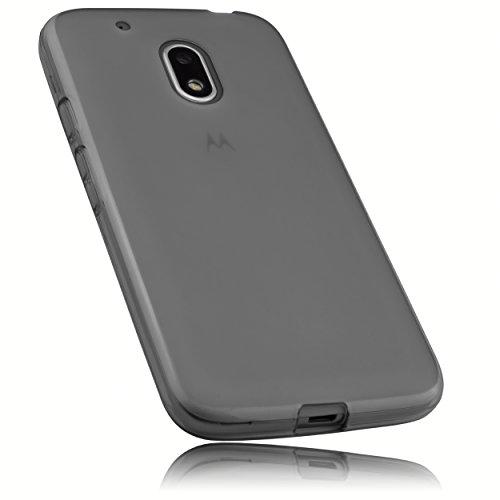 mumbi Hülle kompatibel mit Lenovo Moto G4 Play Handy Case Handyhülle, transparent schwarz