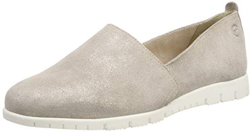 Tamaris Damen 1-1-24604-22 405 Slipper, Beige (Beige Metallic 405), 38 EU