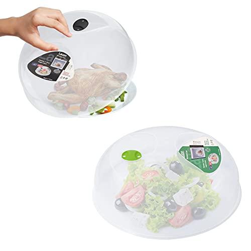 Lauon Mikrowellen Abdeckung, 2 Stücke, große Mikrowelle Platte Abdeckung für Lebensmittel, Mikrowellenhaube mit Dampf Ventile, 11.4inch/29cm