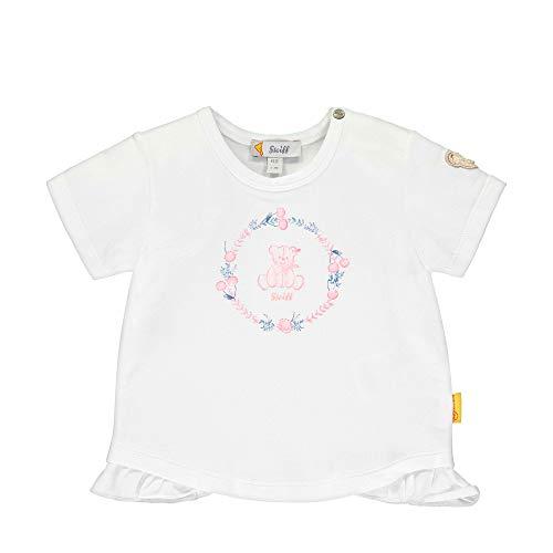 Steiff Mädchen T-Shirt, Weiß (Bright White 1000), 62 (Herstellergröße: 062)
