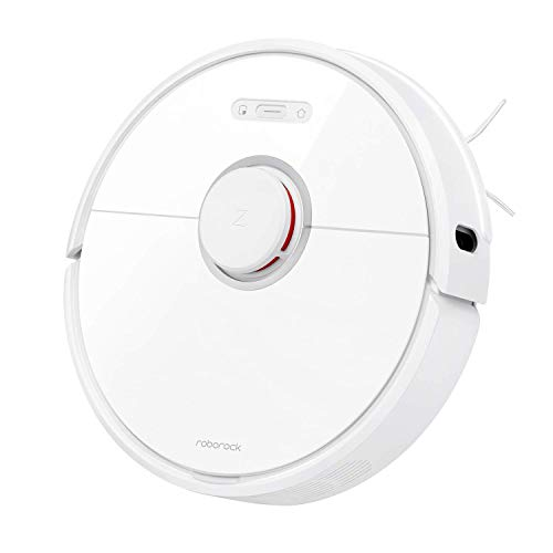 Roborock S6 Robot Vacuum, Robotic Vacuum Cleaner and Mop with Adaptive Routing, Selective Room Cleaning, Super Strong Suction, and Extra Long Battery Life, Works with Alexa(White) (Renewed)