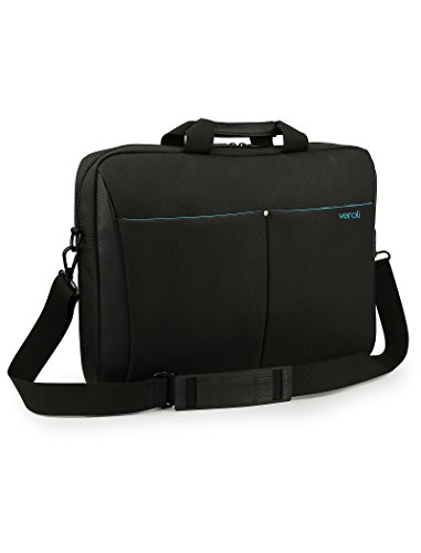 Laptop Bag 15.6 inches Black - Veroli Stylish Women Shoulder laptops Messenger Carry case - 15' and 14' inch Bags for Ladies and Girls - Womens Computer Cases Briefcase Waterproof with Strap