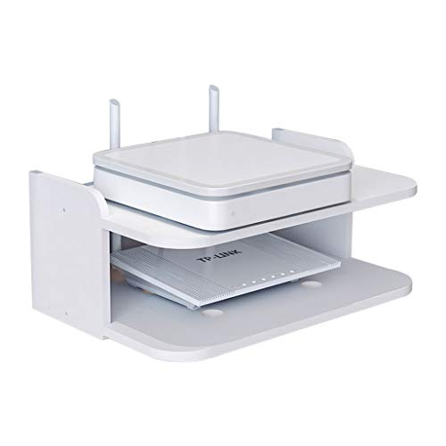ZPWSNH Ledge Router Caja de Almacenamiento Set-Top Box cornisa TV Consola Soporte de TV montado en la Pared Mueble para TV de Pared