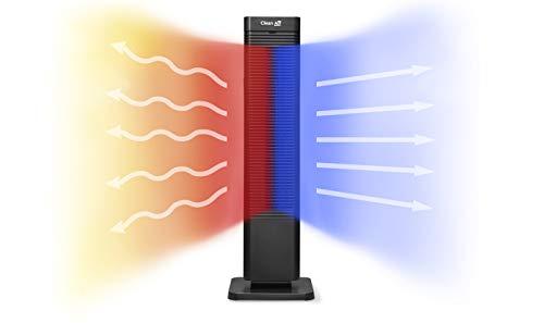 Clean Air Optima 2in1: Design Heizlüfter CA-904B - Heizen und Kühlen: Heizung: 1000/2000 Watt - Digitaler Thermostat 15-35°C - Oszillation 80º - Staubfilter - Geeignet für Räume bis 40 m² / 100 m³