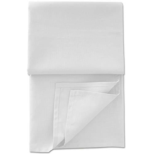 Nurtextil24 Sofa Überwurf Baumwolle Fleckschutz wasserabweisend (20 Variante verfügbar) Überwurf Weiß 130 x 160 cm