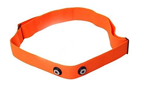 GO-SHOPPING24 Ersatz Brustgurt ORANGE Soft Strap für Polar - Größe M-XXL - geeignet für H1, H2, H3, H6, H7, H10