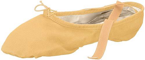 Bloch Dance Damen Pump Canvas Split Sole Ballettschuhe/Slipper, Braun (fleischfarben), 37 EU