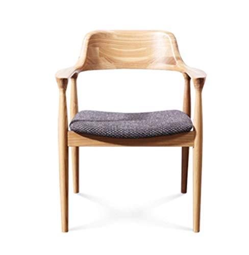 Wly&Home Eettafel, Japanse Ash-vrijetijds-koffiestoel, comfortabele as-schrijftafel met rugleuning, A