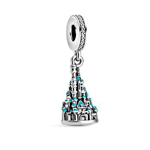 LISHOU Joyería De Plata Esterlina 925 para Mujer Castillo De Hong Kong Abalorios De 3 Mm Se Ajustan A Pulseras Pandora Europeas Collares Fabricación De Joyas DIY