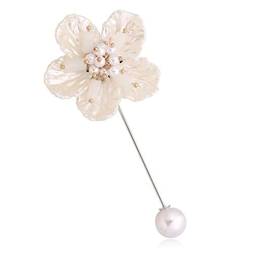 Miss charm Corée Beauté Perle Flash Diamant Incrusté Shell Grosse Pivoine Broche Camélia Foulard en Soie Classique Boucle Vêtements Broche