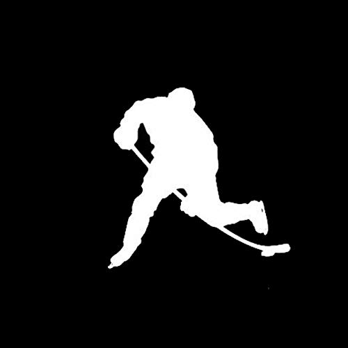 TMANQ 11,3 * 11,2 cm Windows-Autoaufkleber des Eishockeyspielers Motion Reflective Vinyl Decals-B